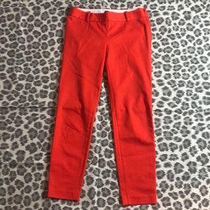 J. Crew Orange City Fit Cropped Pants, 0